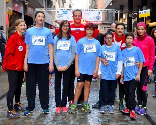 Participació Esport adaptat a la Cursa del Carrer Nou 2015